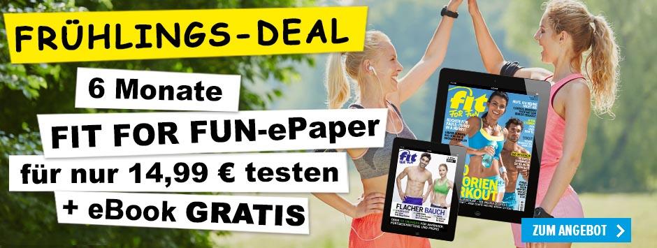 Fit for Fun ePaper 6 Monate lesen + eBook gratis