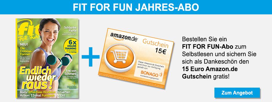 FIT FOR FUN Jahresabo + 15 € Amazon.de-Gutschein