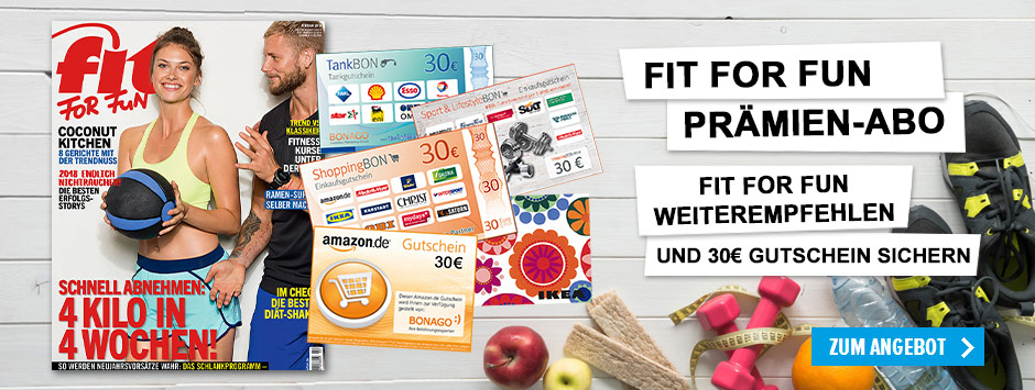 FIT FOR FUN Prämien-Abo 30€ Gutschein