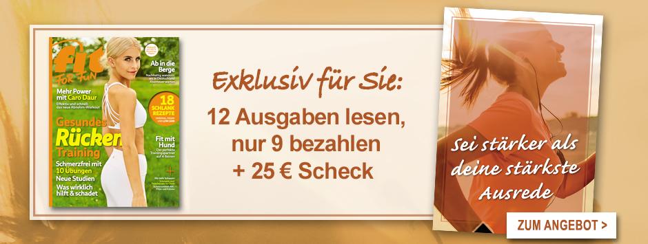 FIT FOR FUN - Postkarte 12 für 9 - Herbst 2020