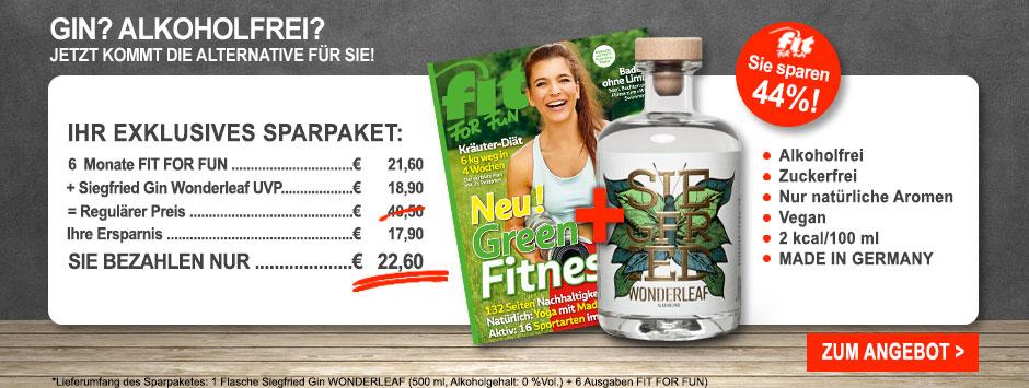 FIT FOR FUN - Halbjahres Sparpaket + Siegfried Wonderleaf Gin