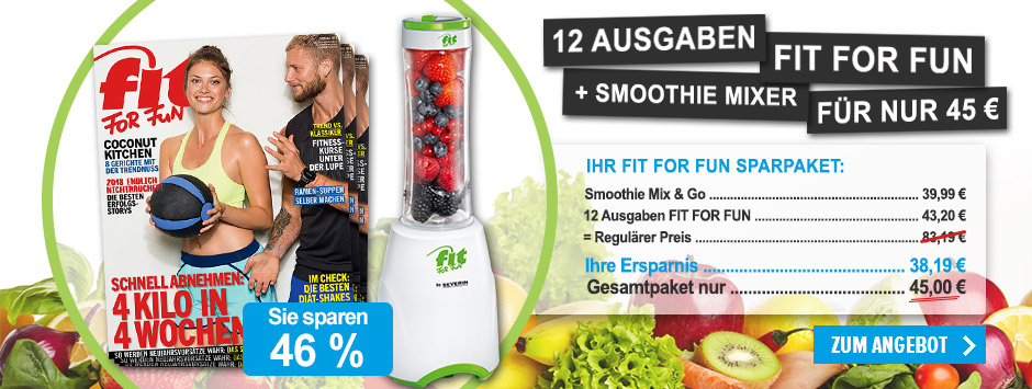 FIT FOR FUN Sparpaket Smoothie Mix & Go