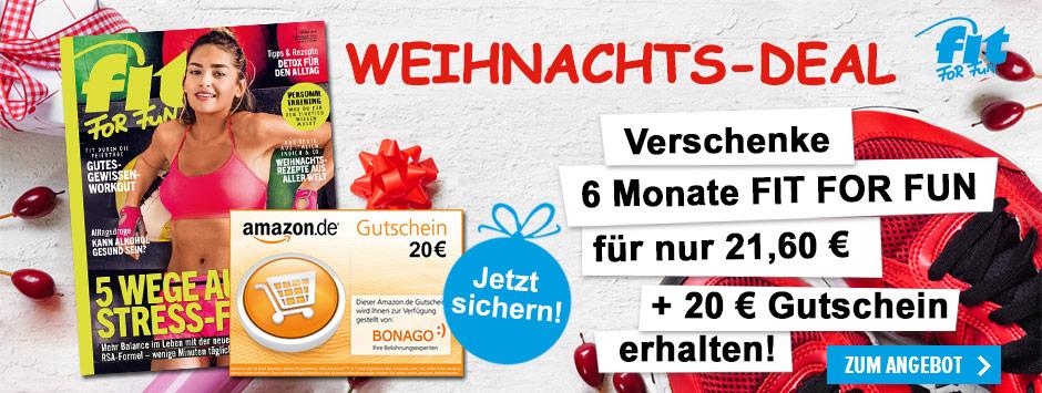FIT FOR FUN verschenken und Amazon.de Gutschein sichern!