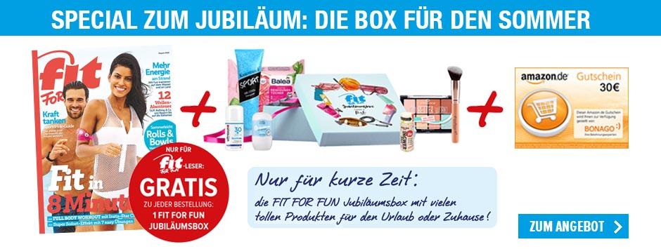FIT FOR FUN - Jubläumsspecial mit Sommerbox