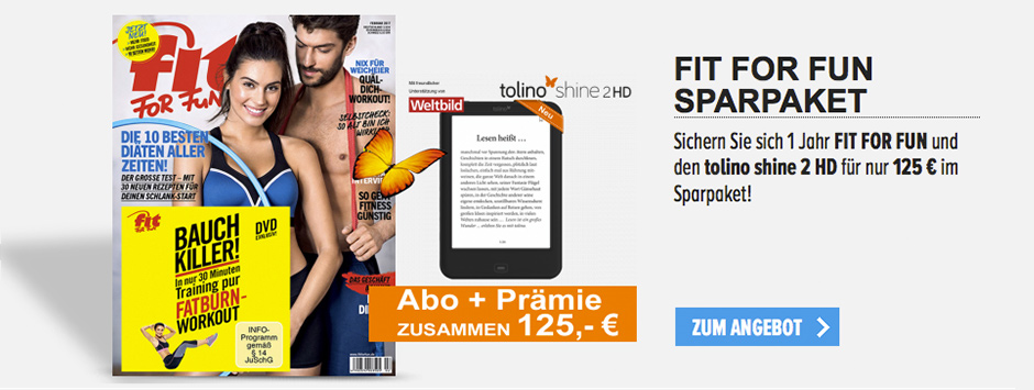 FIT FOR FUN Sparpaket tolino shine 2 HD