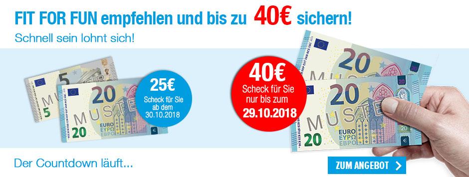 FIT FOR FUN empfehlen und bis zu 40 € sichern!