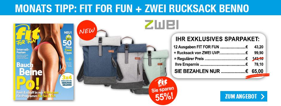 FIT FOR FUN - ZWEI Rucksack Benno
