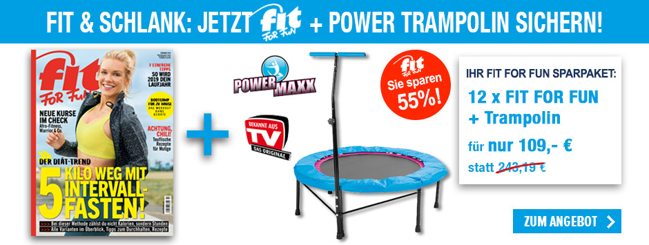 FIT FOR FUN - Sparpaket Trampolin